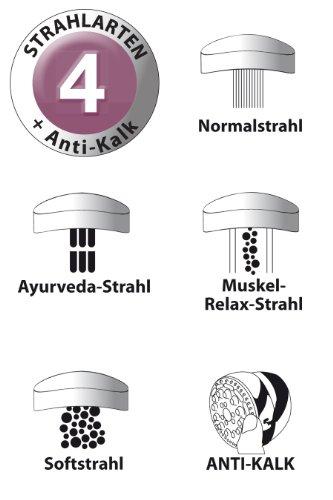 AquaSu – Wellness Duscharmatur Thalgo, Garnitur mit Handbrause und Kopfbrause, Chrom - 3