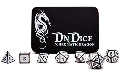 DnDice Chromatic Dragon - Solid Metal Poly Dice Set by...