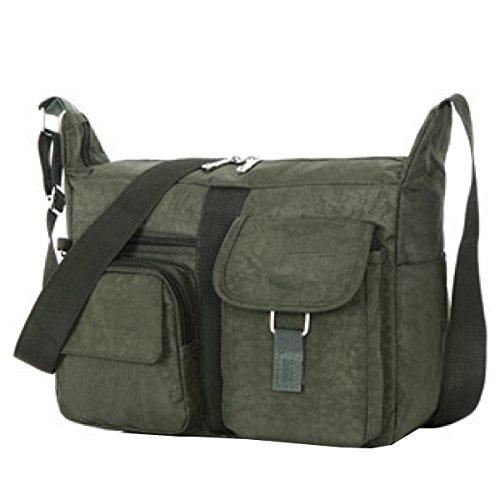 Yy.f Taschen Lässige Handtaschen Diagonal-Paket Dameschulterbeutel Waschlappen Stilvolle Externe Praktische Interne Mehrfarbige Beutel Green
