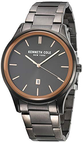 Kenneth Cole Men's 3-Hand 44mm Steel Bracelet & Case Quartz Watch KC50499001