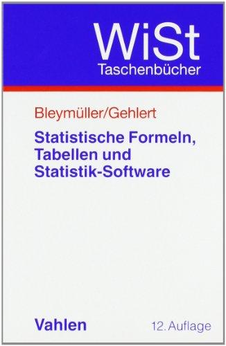 Statistische Formeln, Tabellen und Statistik-Software