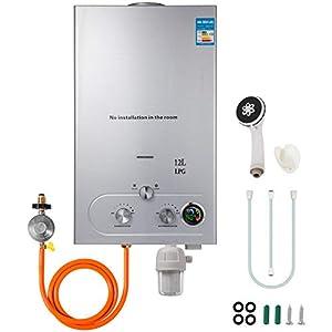 Husuper 12L LPG Calentador de Agua Sin Tanque Caldera Instantánea Baño Ducha Calentador de Agua Instantáneo Hot Water Heater