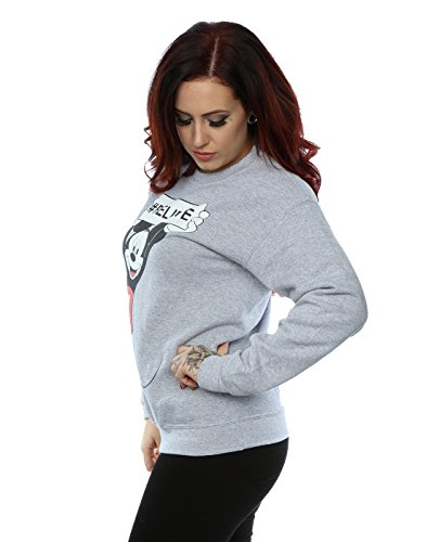 Disney Femme Mickey Mouse Believe Sweat-Shirt Heather Gris
