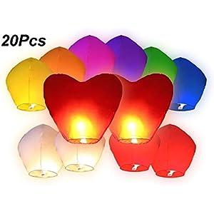 AREA Sky Lanterne Cinesi Volanti Colorate, Misti 41YHvVl7nLL. SS300