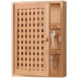 Zeller 13876 Cassettina portachiavi in bambù, aperta, 19 x 6 x 27 cm