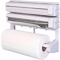 Octopus prime Kitchen Wall Mounted Paper Towel Holder Cling Film Tinfoil Triple Roll Dispenser