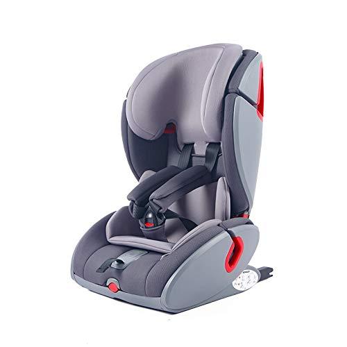 Zedelmaier Kinderautositz M2-Fix Mit ISOFIX 9-36 kg Auto Kindersitz für Kinder von 1-12 Jahre, Gruppe 1/2/3, ECE R44/04 (Grey)