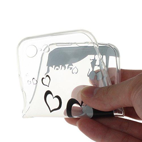 """Für iPhone 7 4.7"""" [Scratch-Resistant] Weichem Handytasche Weich Flexibel Silikon Hülle,Für iPhone 7 4.7"""" TPU Hülle Back Cover Schutzhülle Silikon Crystal Kirstall Durchschauen Clear Case,Funyye Ultra  Süße Liebe"""