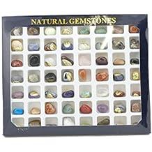 Steinset Natural Gemstones, Set mit 56 verschiedenen Edelsteinen