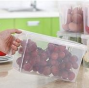 علب تخزين الطعام مع أغطية آمنة للفريزر من شركة دي، مجموعة من 3 قطع كبيرة من البلاستيك، وثلاجة المطبخ، وحاوية ت