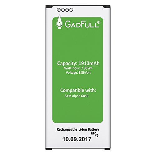 GadFull® Batterie pour Samsung Galaxy Alpha | Date de Production est 2017 | correspond à d'origine EB-BG850BBE | du modèle G850F | Parfait comme batterie de remplacement