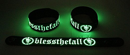 Bless The Fall NEU. Si illuminano al buio braccialetto Bracelet Btf 28G
