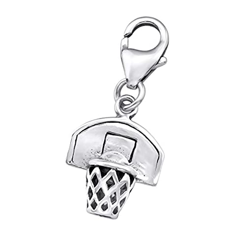 Basketball Sterling Silver Clip on Charm by Kate Benson - fits Thomas Sabo