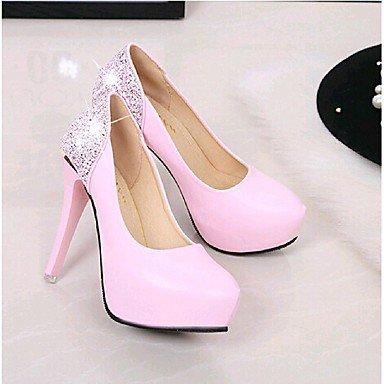Moda Donna Sandali Sexy donna tacchi Primavera / Autunno abito tacchi Stiletto Heel scintillanti di Glitter nero / rosa / rosso / bianco a piedi White