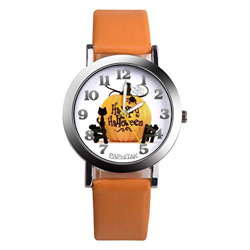 YULINGSTYLE Uhren Mode Weihnachten ältere Muster Lederband Analog Quarz Vogue UhrenSportuhr Elektronische Kinderuhr - Vogue Herren Muster