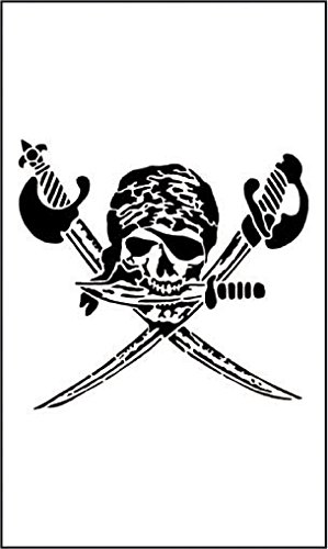 -Schablone Pirat / Totenkopf, 1 Stück (Schnelle Und Einfache Halloween-ideen Für Erwachsene)