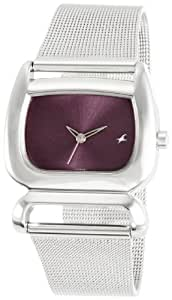 Fastrack Fits & Forms Analog Purple Dial Women's Watch -NK6091SM01