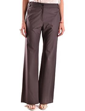 Brunello Cucinelli Mujer MCBI053035O Marrón Lana Pantalón