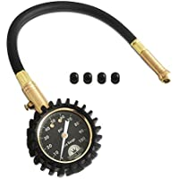 WINOMO Jauges pneu manomètre 100 PSI précise Heavy Duty Air pneu manomètre pour pneus pour votre voiture camion et moto avec 4 bouchons de Valve sans
