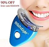 Zahnaufhellung Accelerator Light, Oral Gel Home Bleaching Zähne Kit mit blauem LED-Licht - schnelle Ergebnisse
