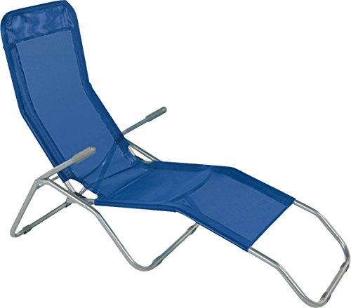 Sdraio formentera basculante in acciaio e textilene 450 gr/m² colore blu.