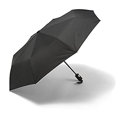 Umbrella - Windproof Reinforced Frame, Tested in 60mph Winds, It's Built To Last or Your Money Back. Black Automatic Umbrella- Auto Open Close for Fast Release Compact