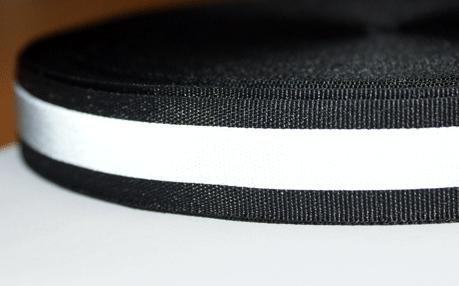 5m Reflektierendes Band / Reflektorband 20mm breit - schwarz - zum Aufnähen