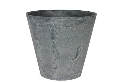 Artstone Pflanzgefäß Pflanzkübel Claire, frostbeständig und leichtgewichtig, Grau, 37x34cm