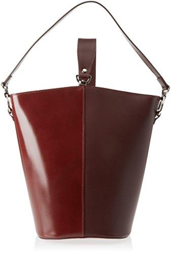 Damen 8890 Rosso 31x33x16 cm BORDO Schultertasche Chicca Borse gaEw55