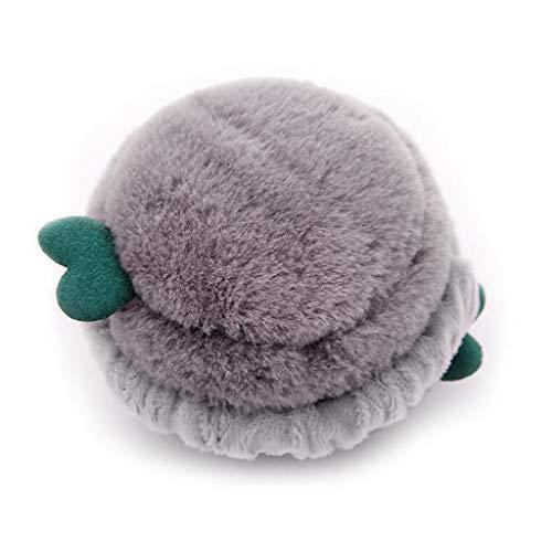 TYX-CZJ Ohrenschützer weiblichen Winter warme hautfreundliche Ohr Tasche kreative Burger Faltbare Ohr Abdeckung,Gray