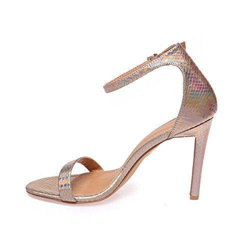 La Modeuse Sandales à Talons Aiguilles Femme Doré rose