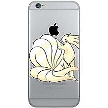 iPhone 5c Pokemon Caja del Silicón / Ninetails Cubierta del Gel para Apple iPhone 5C / Protector de Pantalla y Paño / iCHOOSE