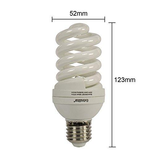 5X E27 Energiesparlampen ExtraStar 23W (=102W) Spirale Sparlampe 6400K Kaltweiss FE741 (23 Watt) -