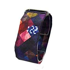 FRZLH Kreative Papieruhr, LED, wasserdicht, Tyvek-Papierband, Digitale Uhren