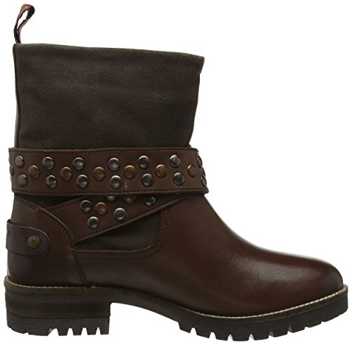 Pepe Jeans Helen Straps, Bottines à doublure froide femme Marron - Braun (Capuccino 875)