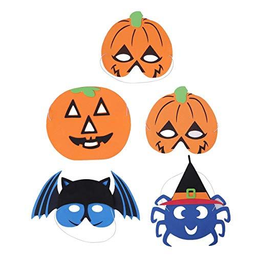 Forniture per accessori fantasia 5 pz halloween party mask zucca strega bat mask performance prop costume decorazione rifornimenti del partito (assortiti)
