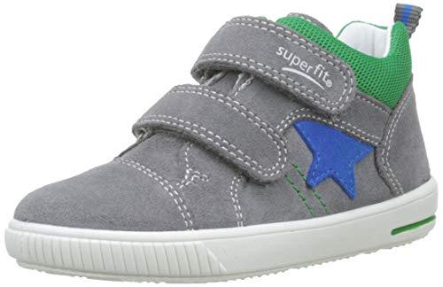 Superfit Baby Jungen Moppy Sneaker, Grau (Hellgrau/Grün 25), 24 EU