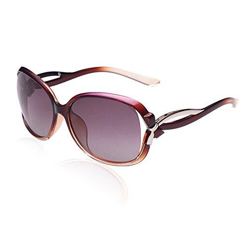 DUCO Damen Sonnenbrille Polarisiert stilvolle Star Brille 100% UV-Schutz 2229 (Gradient lila Rahmen)