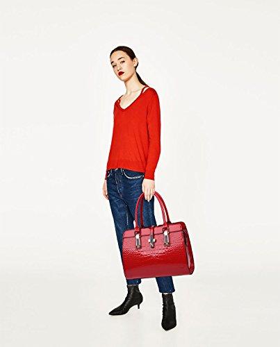 Sunas Sacchetto di spalla trasversale del raccoglitore del sacchetto del pacchetto del pacchetto del sacchetto di pacchetto del sacchetto di pacchetto del sacchetto della nuova borsa delle donne rosso