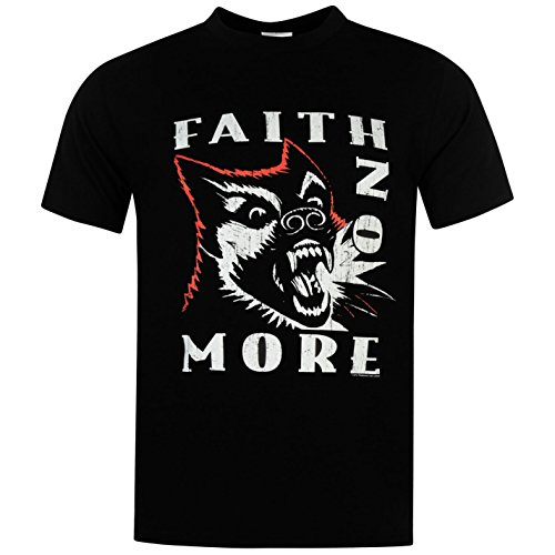 Official Herren Faith No More T Shirt Print Freizeit Kurzarm Rundhals Tee Top Dog Logo Extra Lge (T-shirt Dog Militär)