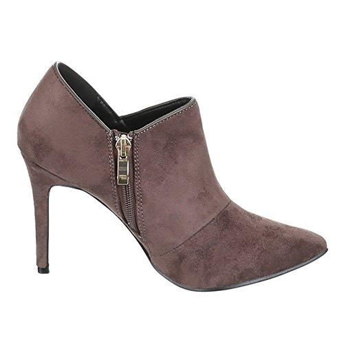 Ital-Design, EK de 71, Ankle Boots Pumps Marron - Sable