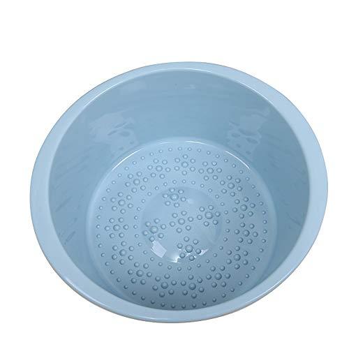 NZ- Foot bath barrel Fuß Badewanne Kunststoff Waschbecken Große Verdickte Kinder Einweichbecken Kann Massage Haushalt Wäschewanne Baby Baby Becken 13,5 * 17,8 cm (Farbe: Blau)