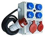 Baustromverteiler, Wandverteiler, Stromverteiler 4 x 230V/16A + 1 x CEE 32A/400V + 1 x 16A/400V