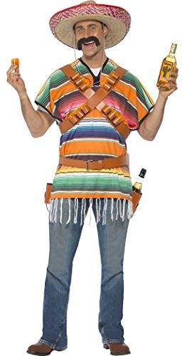 erdbeerclown - Herren Mexikaner Kostüm für Herren, One Size, Mehrfarbig