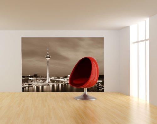 bilderdepot24-self-adhesive-photo-wallpaper-macau-at-night-china-sepia-brown-7087-inch-x-4724-inch-1