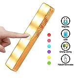 Touch-Bar-Lampe, Nachtlicht Lampe, Cabinet Lampe einstellbar bei Nacht, mit einem eingebauten Lithium-Batterie-Laden (dimmbar 3 Level Warm White Light & Sechs Farbwechsel RGB)