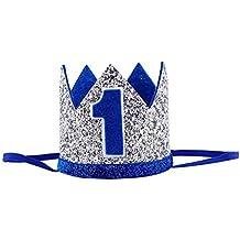 JuLun 1 PC lindo bebé fiesta de cumpleaños sombrero, niños gorra niñas Pricess corona decorativa