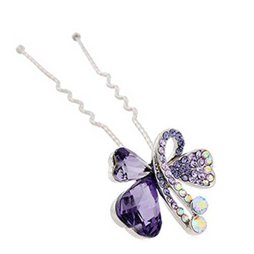 Motif alliage de mode Bride papillon diamant Hairpin Ornements de cheveux