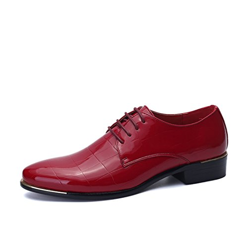 Men's Sapatos Masculino Slip On Oxfords Shoes 2833 red
