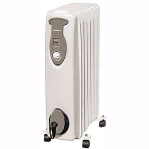 Orbegozo RA1500 – Radiador de aceite, 1500 W, 7 elemementos, termostato, color blanco